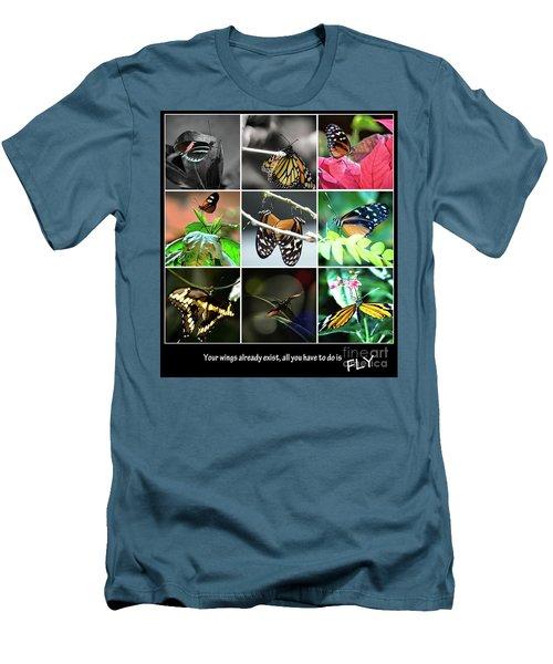 Butterfly Cluster Men's T-Shirt (Slim Fit) by Deborah Klubertanz