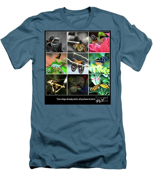 Butterfly Cluster Men's T-Shirt (Slim Fit)