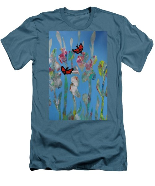 Butterfly Glads Men's T-Shirt (Athletic Fit)