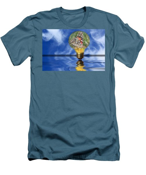 Butterfly In Lightbulb - Landscape Men's T-Shirt (Athletic Fit)