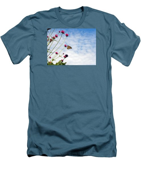 Men's T-Shirt (Slim Fit) featuring the photograph Butterfly Magic by Teresa Schomig