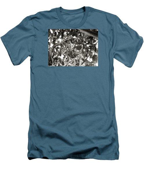 Men's T-Shirt (Slim Fit) featuring the photograph Bw Cobweb Tree by Megan Dirsa-DuBois