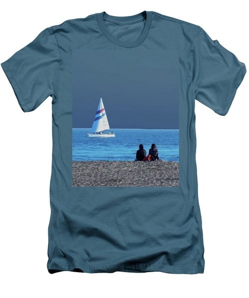 By The Sea Men's T-Shirt (Slim Fit)