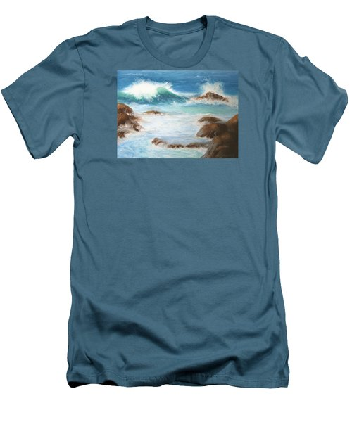 By The Sea Men's T-Shirt (Slim Fit) by Marna Edwards Flavell