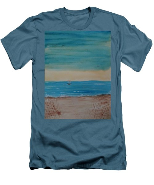 By The Seaside, By The Beautiful Sea Men's T-Shirt (Athletic Fit)
