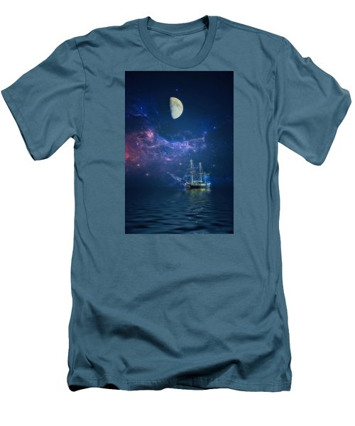 By Way Of The Moon And Stars Men's T-Shirt (Slim Fit) by John Rivera