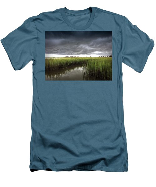 Cabbage Inlet Cold Front Men's T-Shirt (Slim Fit) by Phil Mancuso