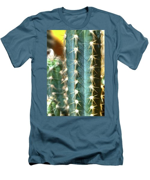 Men's T-Shirt (Slim Fit) featuring the photograph Cactus 3 by Jim and Emily Bush