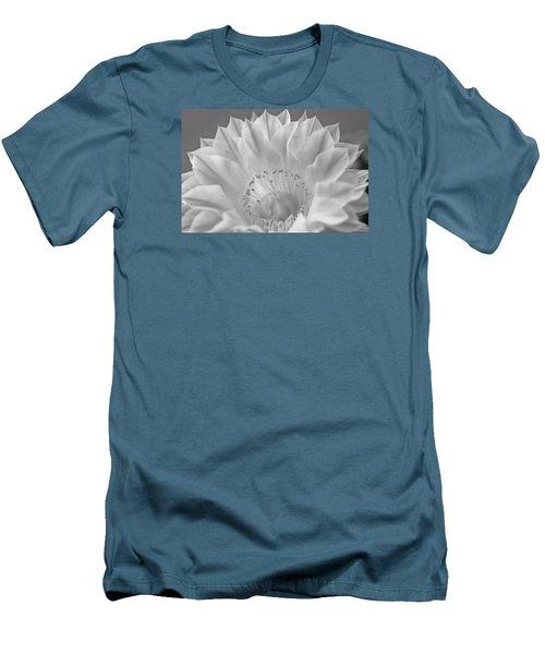 Cactus Bloom Burst Men's T-Shirt (Slim Fit) by Shelly Gunderson