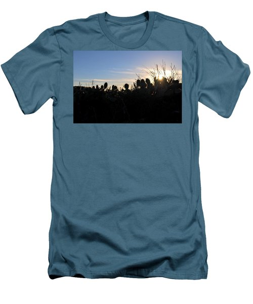Men's T-Shirt (Athletic Fit) featuring the photograph Cactus Silhouettes by Matt Harang