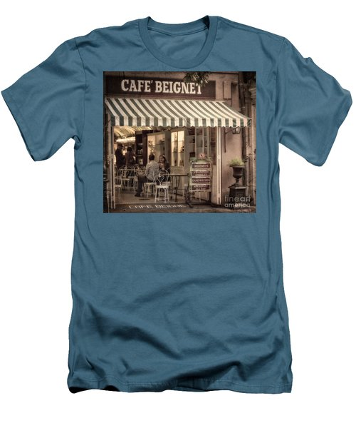 Cafe Beignet 2 Men's T-Shirt (Athletic Fit)