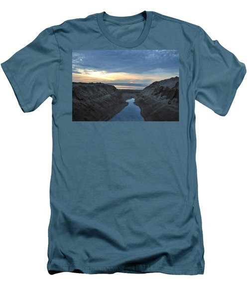 California Beach Stream At Sunset - Alt View Men's T-Shirt (Athletic Fit)