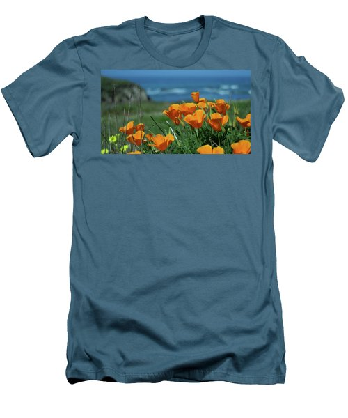 California State Flower - The Poppy Men's T-Shirt (Athletic Fit)