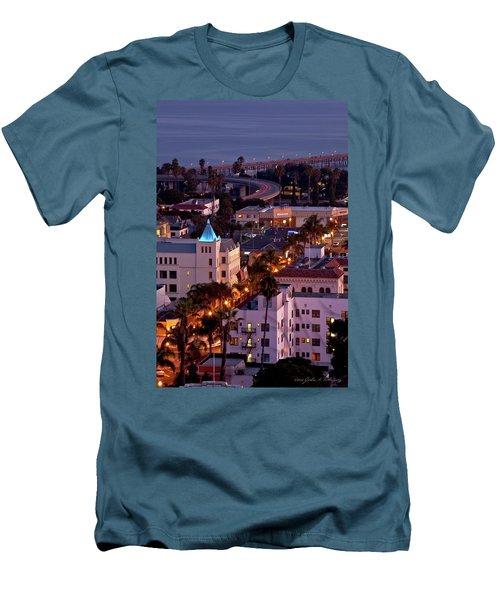 Men's T-Shirt (Slim Fit) featuring the photograph California Street At Ventura California by John A Rodriguez