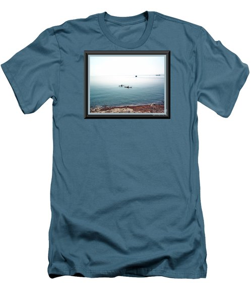 Men's T-Shirt (Slim Fit) featuring the photograph Calm Lake Superior by Shirley Moravec