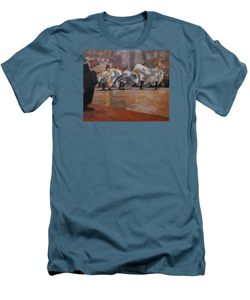 Men's T-Shirt (Slim Fit) featuring the painting Can Can In The Moulin Rouge Paris by Nop Briex
