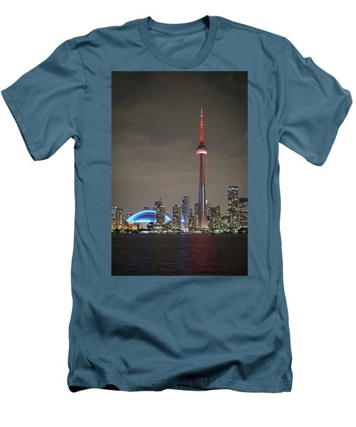 Canadian Landmark Men's T-Shirt (Slim Fit) by Nick Mares