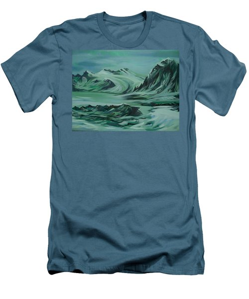 Men's T-Shirt (Slim Fit) featuring the painting Canadian North by Anna  Duyunova