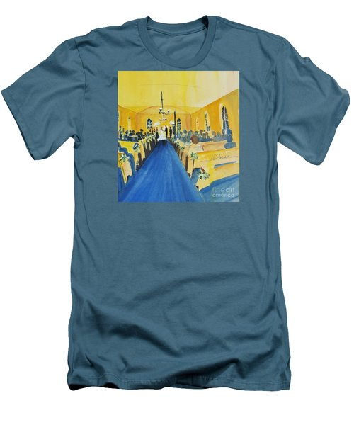 Candlelight Wedding At The Historic Ryssby Church Men's T-Shirt (Athletic Fit)