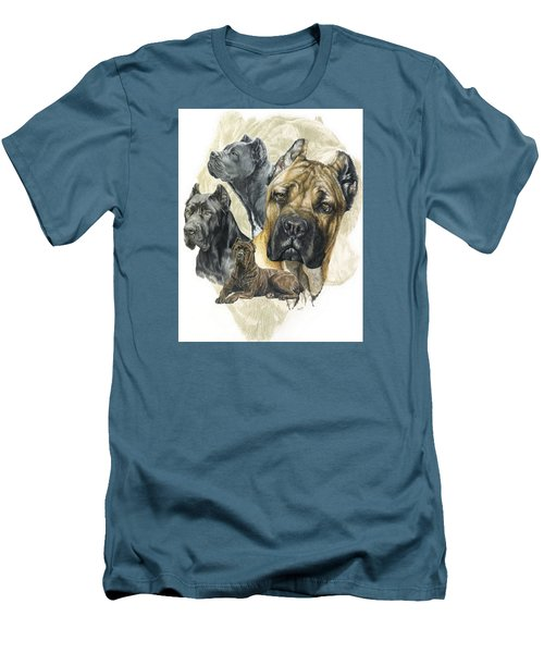 Cane Corso W/ghost Men's T-Shirt (Slim Fit) by Barbara Keith