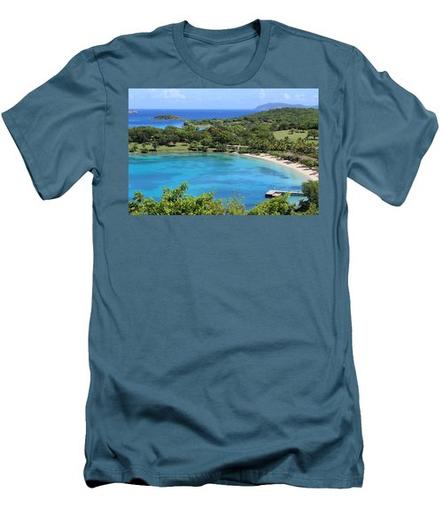 Caneel Bay St. John Men's T-Shirt (Slim Fit) by Fiona Kennard