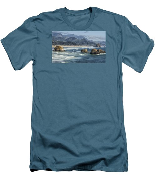 Men's T-Shirt (Slim Fit) featuring the photograph Cannon Beach 0192 by Tom Kelly