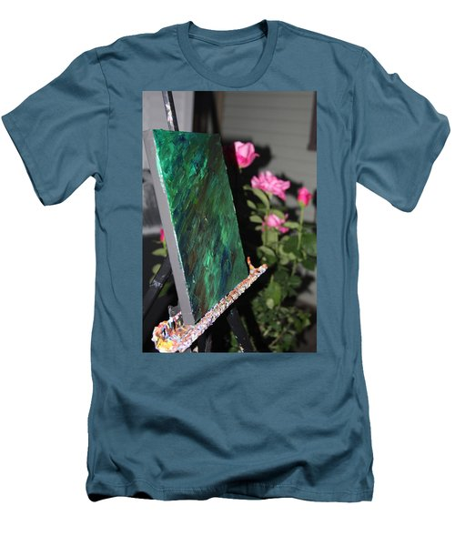 Men's T-Shirt (Athletic Fit) featuring the photograph Canvas And Roses by Vadim Levin