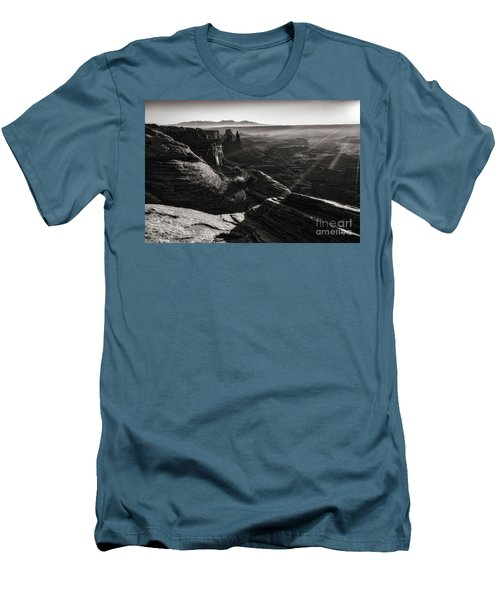 Men's T-Shirt (Slim Fit) featuring the photograph Canyon Sunbeams by Kristal Kraft
