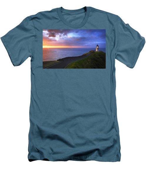 Cape Reinga Lighthouse Men's T-Shirt (Athletic Fit)