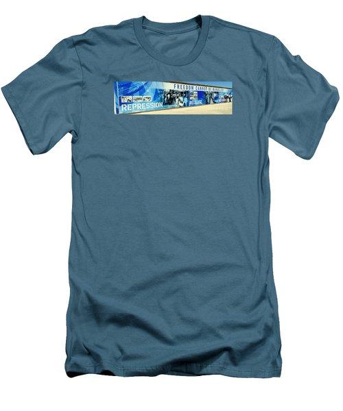 Cape Town Prison Sign Men's T-Shirt (Slim Fit) by John Potts
