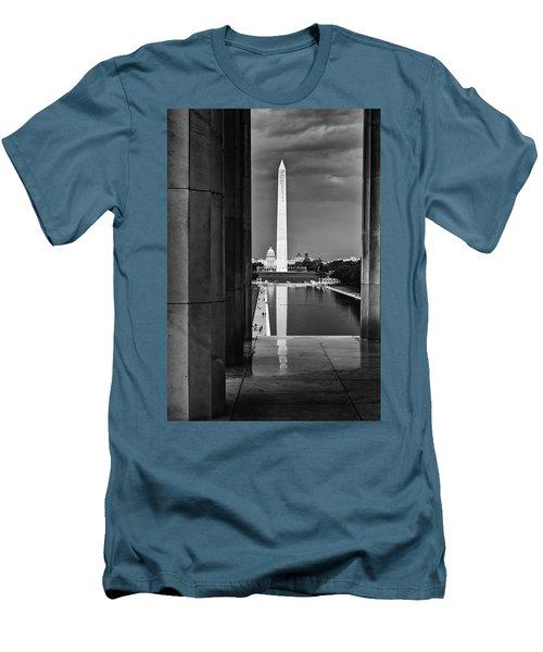 Capita And Washington Monument Men's T-Shirt (Slim Fit) by Paul Seymour