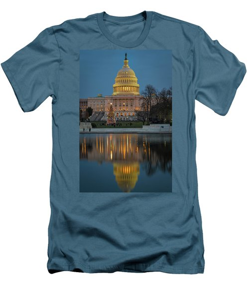 Capitol Reflection At Christmas Men's T-Shirt (Athletic Fit)