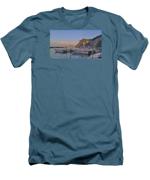 Capri- Harbor Boats Men's T-Shirt (Athletic Fit)