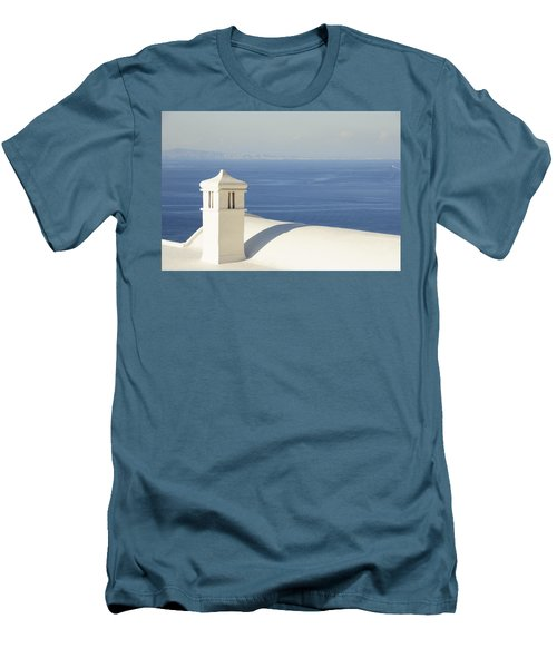 Men's T-Shirt (Slim Fit) featuring the photograph Capri by Silvia Bruno