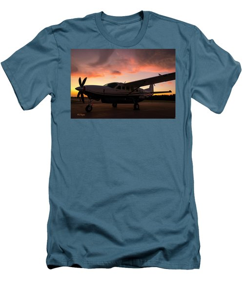 Caravan On The Ramp In The Sunset Men's T-Shirt (Athletic Fit)