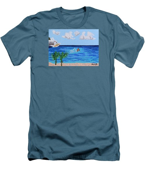 Caribbean Jet Ski Men's T-Shirt (Athletic Fit)