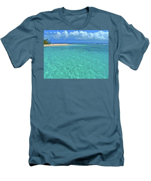 Caribbean Water Men's T-Shirt (Slim Fit) by Scott Mahon