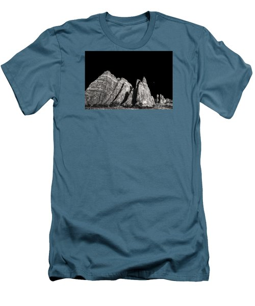 Men's T-Shirt (Slim Fit) featuring the digital art Carved By The Hands Of Ancient Gods by William Fields