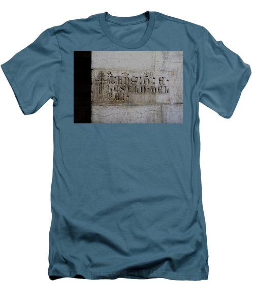 Men's T-Shirt (Slim Fit) featuring the photograph Carved In Stone by Lorraine Devon Wilke