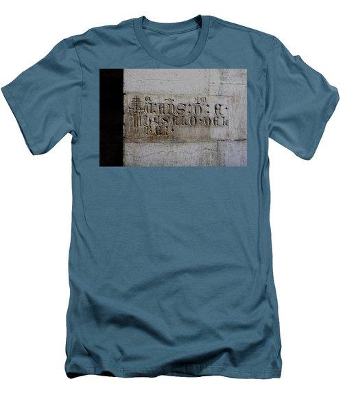 Carved In Stone Men's T-Shirt (Slim Fit) by Lorraine Devon Wilke