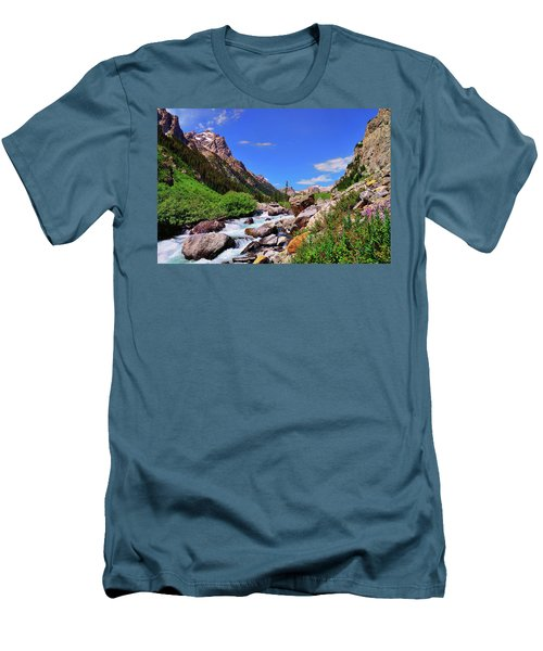Cascade Canyon Men's T-Shirt (Slim Fit) by Greg Norrell