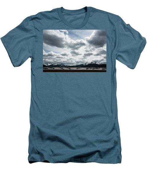 Men's T-Shirt (Slim Fit) featuring the photograph Cascade Outlook Manning Provincial Park by Elvira Butler