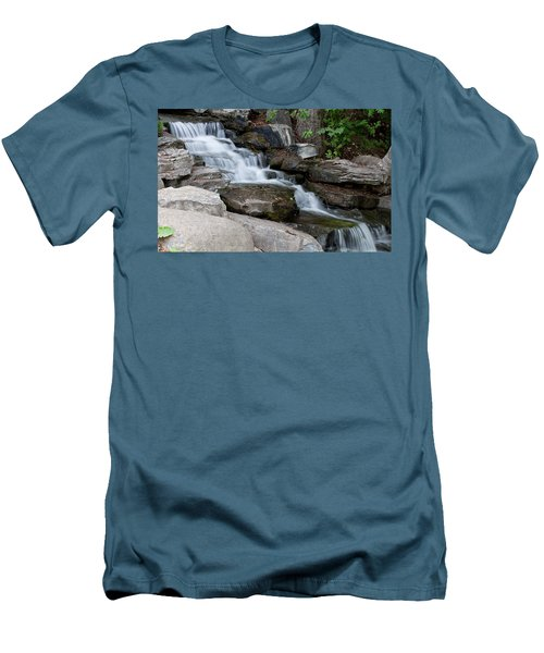 Men's T-Shirt (Athletic Fit) featuring the photograph Cascading by Fran Riley