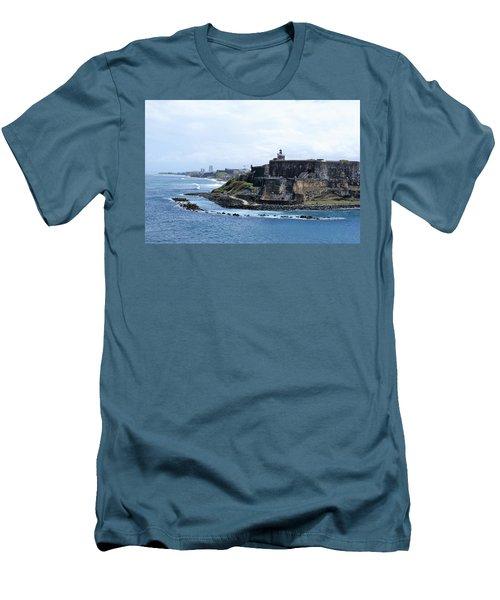 Men's T-Shirt (Slim Fit) featuring the photograph Castillo San Felipe Del Morro by Lois Lepisto