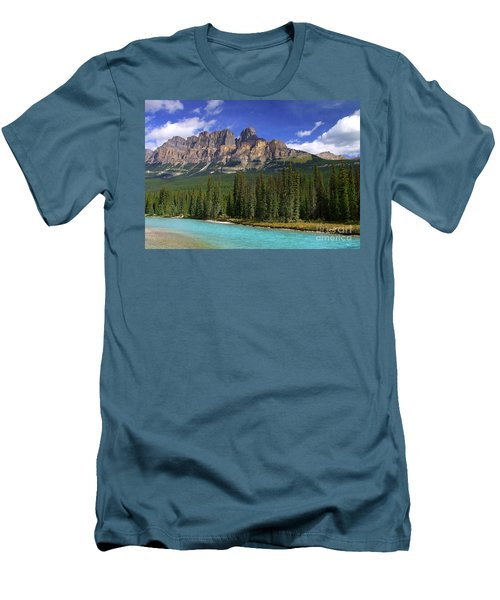 Castle Mountain Banff The Canadian Rockies Men's T-Shirt (Athletic Fit)