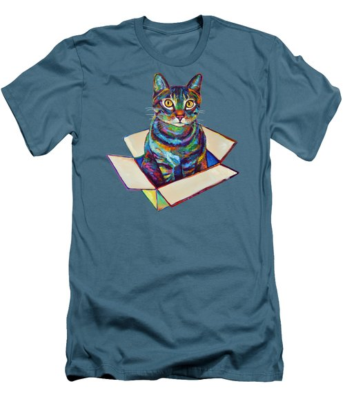 Cat In A Box Men's T-Shirt (Athletic Fit)