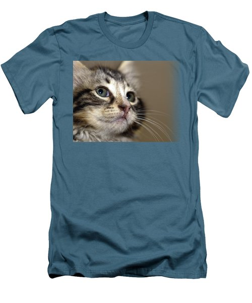 Cat T-shirt 2 Men's T-Shirt (Slim Fit) by Isam Awad