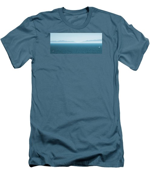 Catalina Test Men's T-Shirt (Slim Fit) by Ben and Raisa Gertsberg