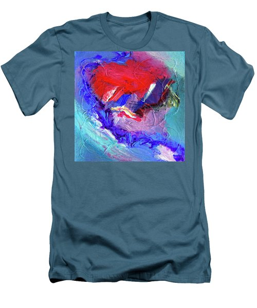 Men's T-Shirt (Slim Fit) featuring the painting Catalyst by Dominic Piperata