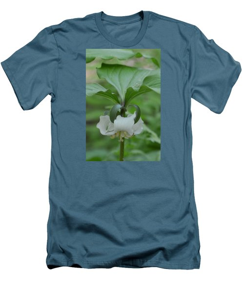 Men's T-Shirt (Slim Fit) featuring the photograph Catesby Trillium by Linda Geiger